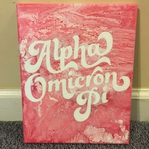 Other - 8x10 Retro Alpha Omicron Pi 3D canvas